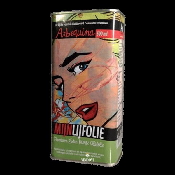 Aceites Unicos, Mijnlijfolie, Arbequina Premium Extra Vierge, Olijfolie Vindom Wine Boutique Wijn Oldenzaal