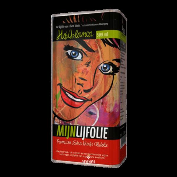 Aceites Unicos, Mijnlijfolie, Hojiblanc, Premium Extra Vierge, Olijfolie. Vindom Wine Boutique Wijn Oldenzaal