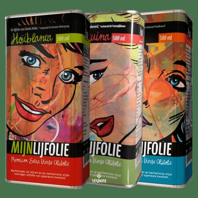 Aceites Unicos, Mijnlijfolie, Arbequina, Picual, Hojiblanc, Set van 3 Vindom Wine Boutique